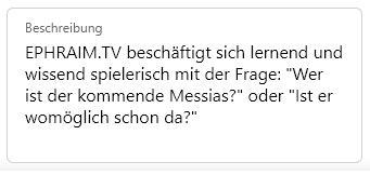 Beschreibung EPHRAIM.TV