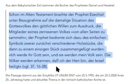 """Prophet Esekiel - Die 2 Hölzer Samaria und Judäa kommen zusammen - Ephraim hält dann das """"Eine Holz"""" in der Hand"""