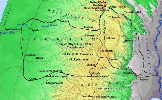 Ephraimiter Old Map