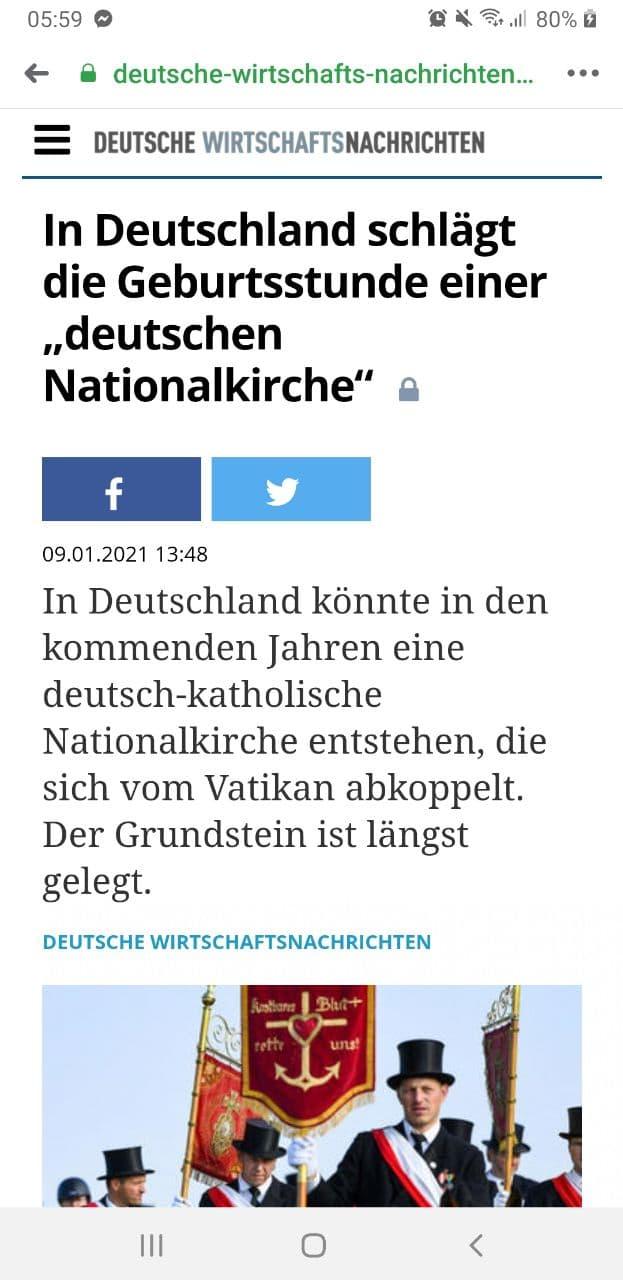 DWN: In Deutschland schlägt die Geburtsstunde einer -deutschen Nationalkirche-