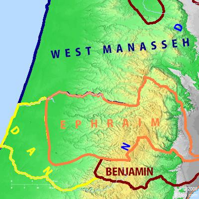 EPHRAIM - Israel Map (Ephraim und Umgebung)