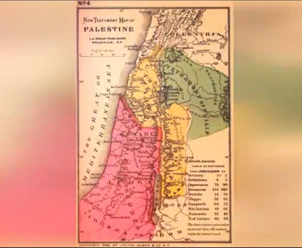 Palestina - Neues Testament Karte - Map