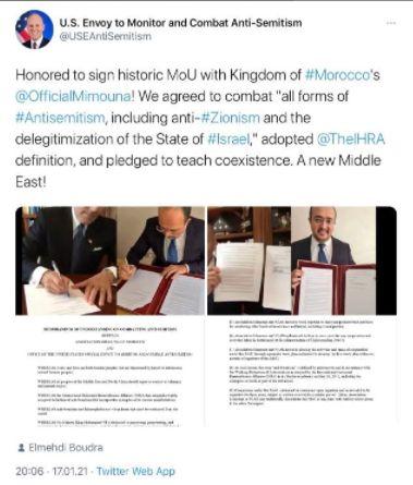 Elan Carr nach der Zustellung von Ephraim's Briefe als Antisemitismusbeauftragter eingesetzt